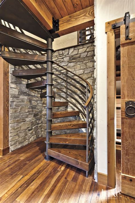 spiral staircase neutral mountain spiral staircase alcove luxe halls
