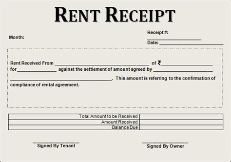 printable rent receipt for income tax purpose the most complete guide on rent slips receipts to claim