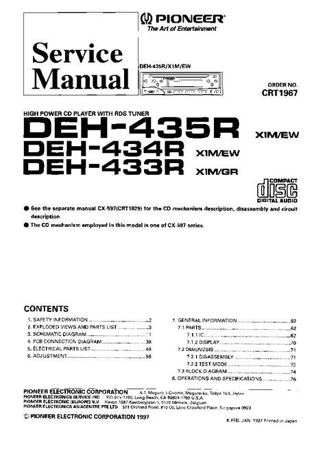 pioneer deh 2800mp wiring diagram pioneer deh p4050ub wiring diagram 34 wiring diagram