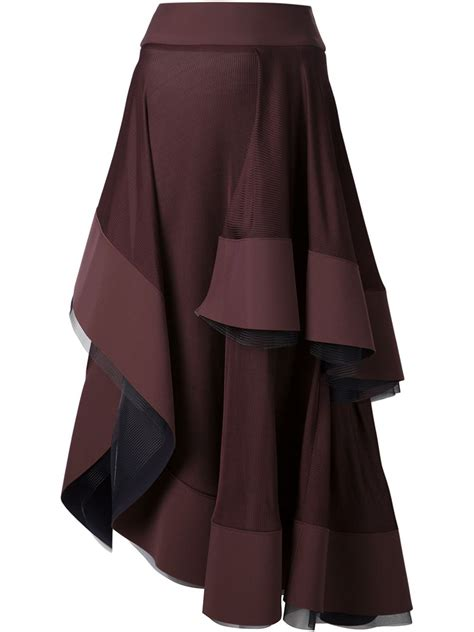 drape skirts esteban cortazar draped skirt in brown lyst