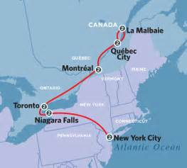 new york canada map new york eastern canada journey 2013 amtrak vacations