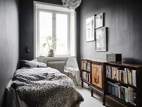 small dark bedroom white modern vintage swedish apartment look amazing
