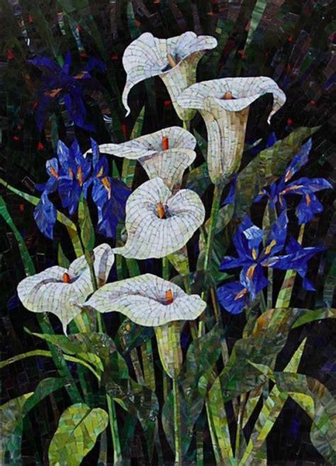 mosaic iris very beautiful mosaic mosaics pinterest mosaics