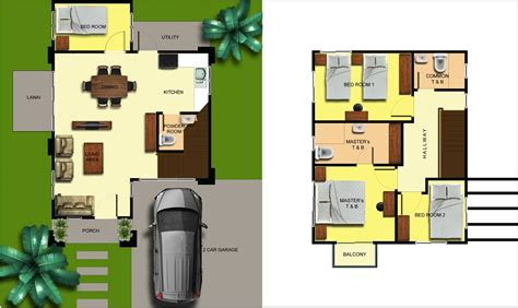 single detached house floor plan luana homes