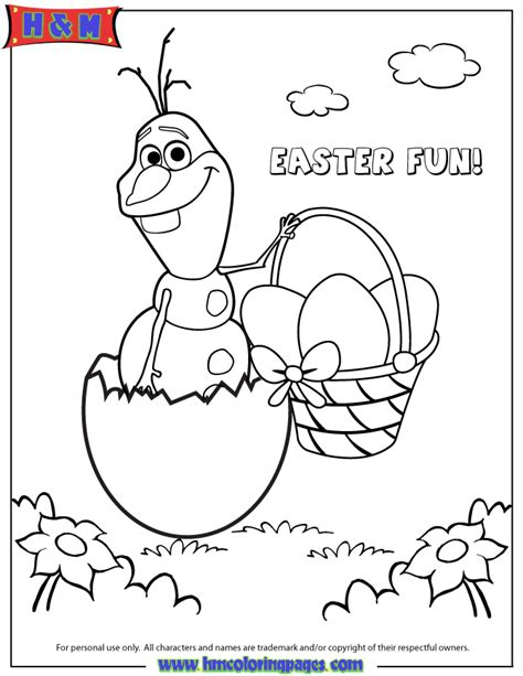 frozen spring coloring pages frozen character olaf hatching from easter egg coloring