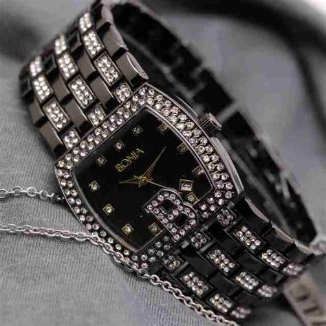 Jam Tangan Bonia Tali Hitam jam tangan bonia wanita tali rantai delta jam tangan