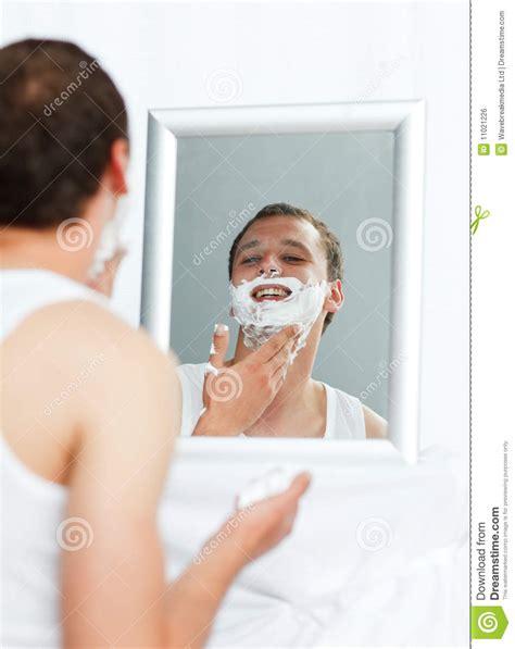 bathroom man man shaving in bathroom royalty free stock image image 11021226