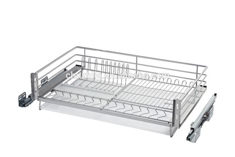 Wire Basket Sliding Drawers by Kitchen Drawer Organizer Sliding Pull Out Wire Basket