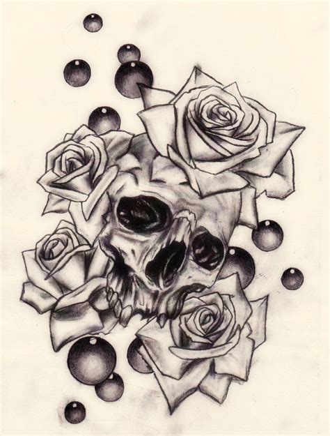 skull and rose tattoos tumblr skull and roses by slabzzz on deviantart skull s