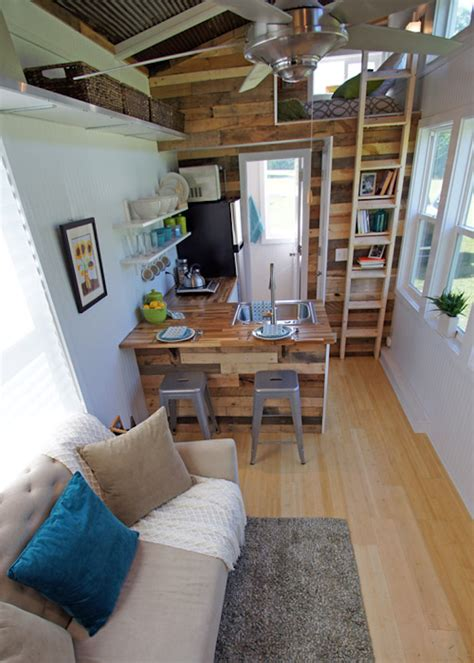 tiny house interior brightly colored tiny house on wheels called the yosemite