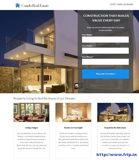 Landing Page Design The Best Real Estate Landing Pages by 50 Best Unbounce Landing Page Templates Frip In