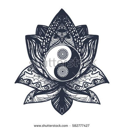 vintage yin yang mandala tao symbol image vectorielle