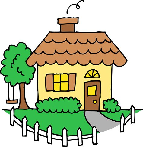 yellow house clipart free clip