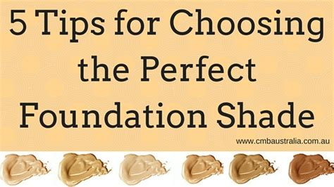 5 Tips For Choosing The Perfect Foundation Shade Colour 5 Tips For Choosing Where To Put A