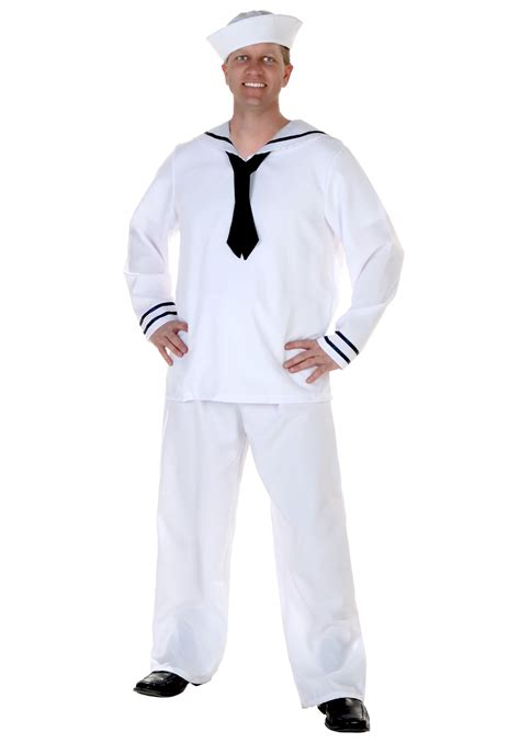 St Sailor Blue White 090012 white sailor costume mens sailor costumes