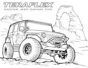 jeep wrangler road coloring pages coloring pages