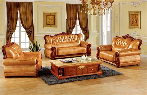 Luxury Living Room Furniture Sets by Luxury European Leather Sofa Set Living Room Sofa Made In