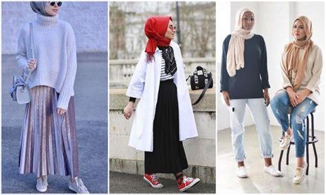 Fashion Korea Original Terbaru 9112 tips gaya hijabers kasual sporty yang keren dengan sneakers mudah kamu contek deh kaskus