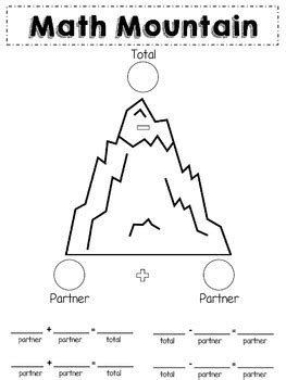 Math Mountain Worksheets 1st Grade by Math Mountain Posters Worksheets By A Slice Of Tpt