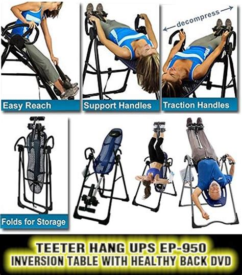 teeter hang ups ep 950 inversion table with healthy back