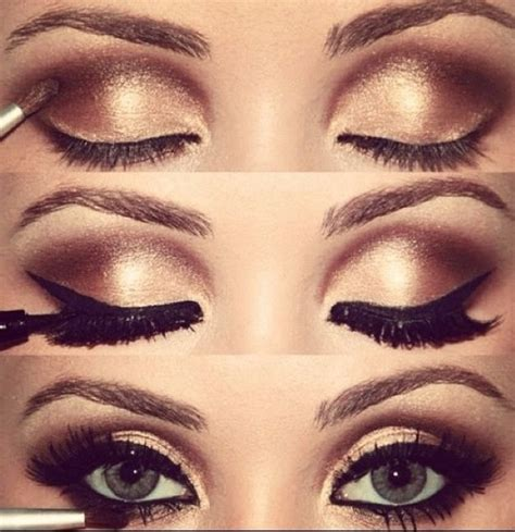 eyeshadow tutorial with gold gold makeup for prom beauty pinterest gold eyes