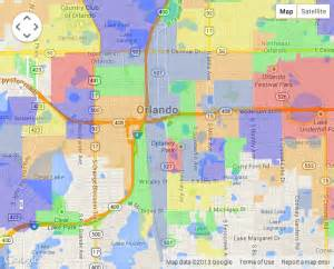 Map Of Downtown Orlando by Portfolio Cross Section Technologies