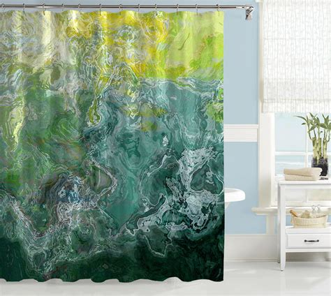 artist shower curtains abstract shower curtain contemporary bathroom decor green