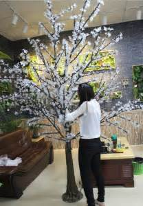 wholesale white cherry blossom led tree for wedding
