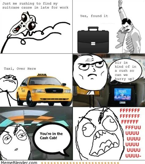 Meme Vs Rage - rage comics late for work meme shuffle pinterest