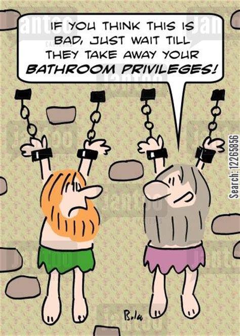 bathroom privileges torture chambers cartoons humor from jantoo cartoons