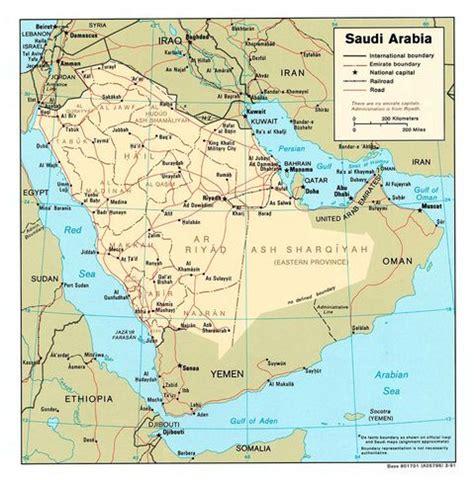 saudi arabia political map saudi arabia political map 1991