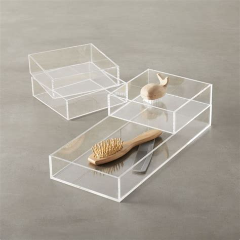 Acrylic Bath Accessories Cb2 Lucite Bathroom Accessories