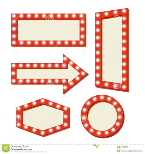 retro red frame vintage signs stock vector image 67193476