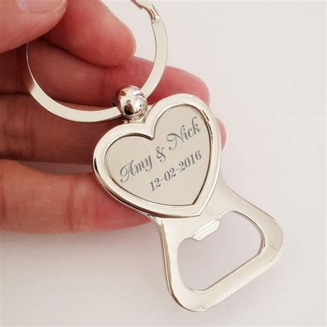Wedding Favors Keychains by Bottle Opener Keychain Favors Buy Personalized