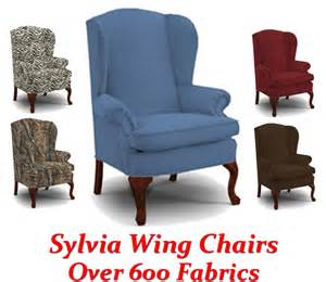 Red Fabric Recliner Chair Sylvia Queen Anne Wing Back Chair