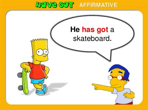 has with verb got with the simpsons