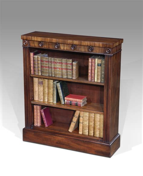 Slender Bookshelf Small Antique Bookcase Georgian Bookcase Mahogany