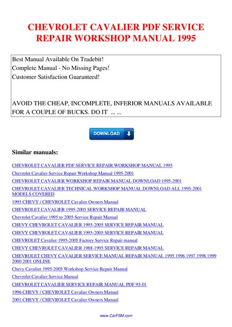 service manual service manual for a 1995 chevrolet caprice manual repair autos 1995 chevrolet cavalier service repair workshop manual 1995 by nana hong page 1 issuu
