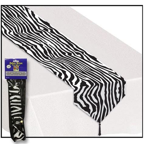 print table runners zebra print table runner