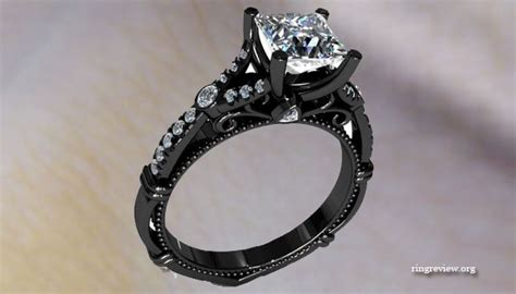 unique black engagement rings jewelry trendy