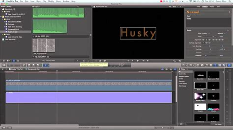 tutorial video final cut pro x final cut pro x tutorial advanced title creation