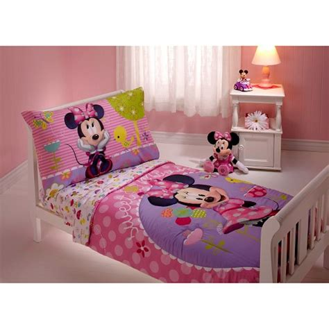 minnie bed set minnie mouse toddler 4 piece bed set multicolor target