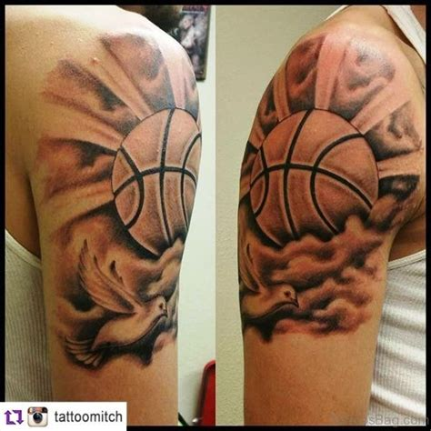 basketball tattoos 67 superb basketball tattoos on shoulder