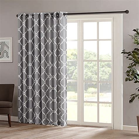 bed bath and beyond saratoga madison park saratoga 84 inch grommet top patio door window curtain panel bed bath