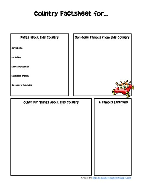 Free Country factsheet education template | Templates at