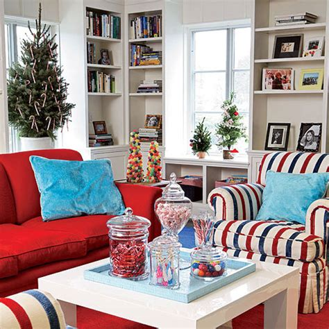 living room with red sofa christmas living room red sofa cushion white table olpos