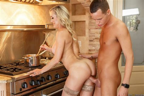 milf brandi love in nylons and high heels fucks a boy in kitchen my pornstar book