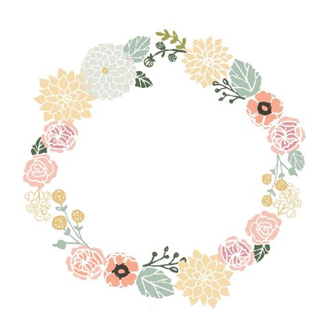 floral pattern frame vector vintage flower frame vector png google search