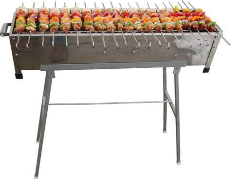 Cook Master Bbq Skewer Stainless Tusukan Kebab Satay Stainless B50 32 Quot Stainless Steel Shish Kebab Grill W Stand 20 Stainless Skewers