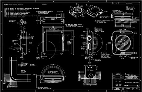 cool cad drawings apple releases apple watch cad drawings core77